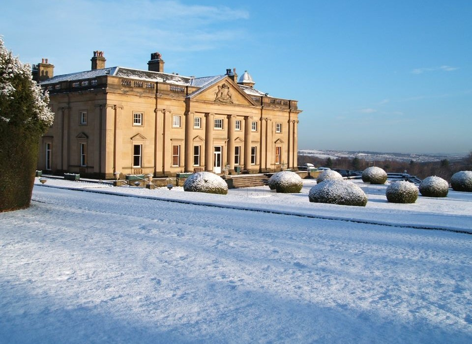 Wortley Hall in Snow.