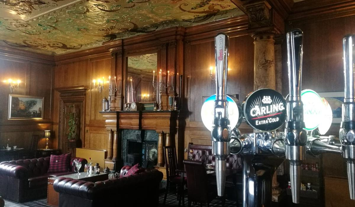 Beers taps in Ruddy Duck restaurant and bar at Wortley Hall