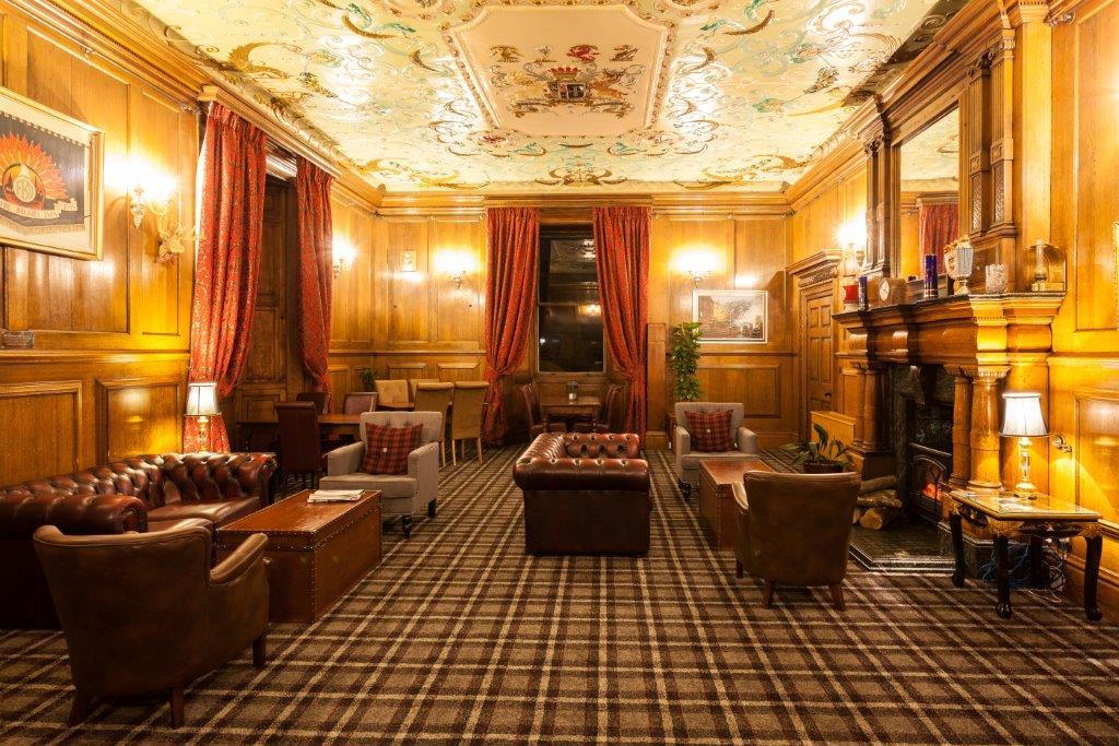 Wortley Hall bar seating area