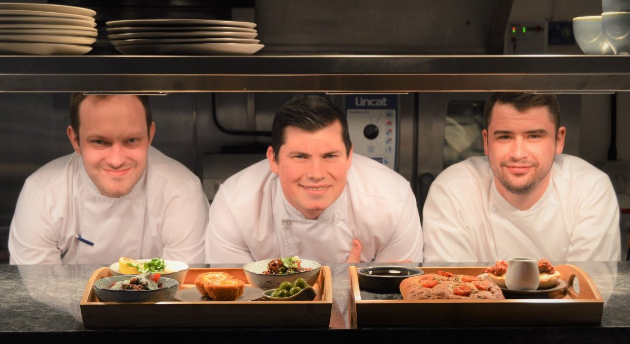 Wortley Hall chefs with yorkshire tapas